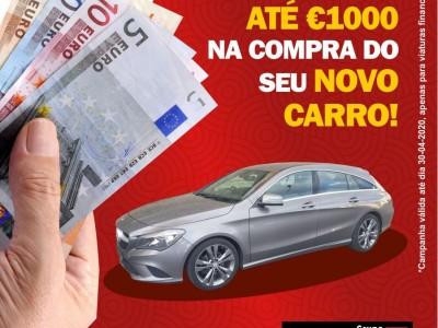 Receba até €1000 na compra do seu novo carro!